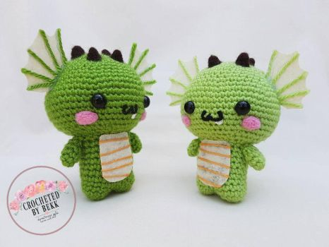 Chibi Dragons!  by CrochetedbyBekk