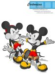 Micky and Minnie by Cartoonicus