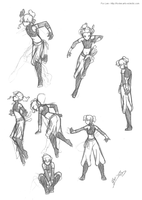 DnD - Tesselae poses by foxlee