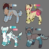 Adoptables! .:Closed:. by SnowseaSide