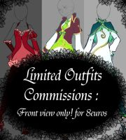 Limited Outfits Commissions - CLOSED - by rika-dono