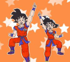Me and Me: Goku by starrdust411