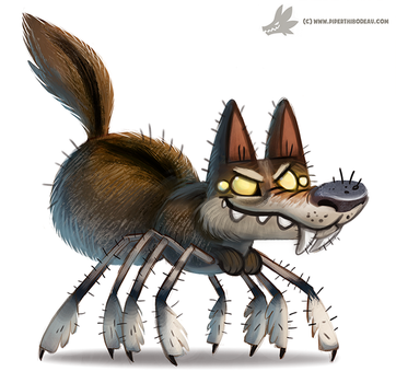 Daily Paint #1040. Wolf Spider by Cryptid-Creations