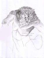 Pencil Werewolf by Atan