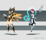 Cyborg Lux and Human Phage by TheGraffitiSoul