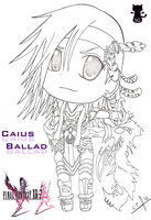 Caius Ballad Chibi lineart by Capolecos