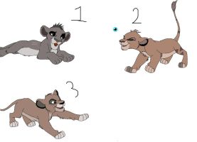 Lion Cub Adopts (CLOSED) by MegaJerk