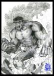 Hulk Drawing by BiggDave