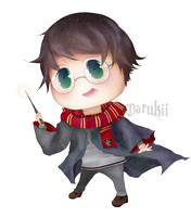 Harry Potter Chibi +speedpainting video by Darukii