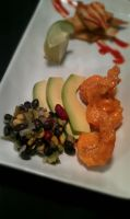Spicy Shrimp and Black Bean Salad Detail 2 by PrYmO-ART