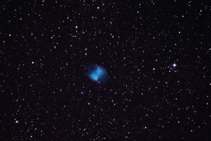 Messier 27, The Dumbbell Nebula at Fort Griffin by phrostie