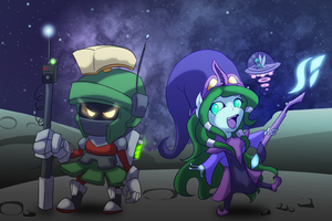 Space Lulu And Veigar (Commission) by Zedrin