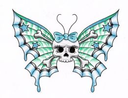 skull butterfly by themangaline