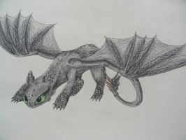 Toothless - wanna play? by IcelectricSpyro