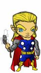 chibi Thor colored by fwrussell
