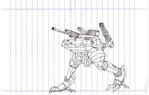 Giant military robot scetch by Gun345