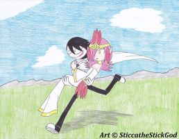 Jeff carrying Goddess from Marco by SticcatheStickGod