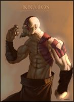 Kratos painting by skazi222