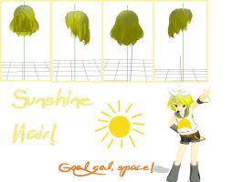 MMD: Sunshine Hair + DL by MikuMikuLiv