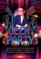 Geek-party-flyer by Styleflyers