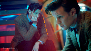 11th Doctor - Thinking in the Tardis by chriscastielredy