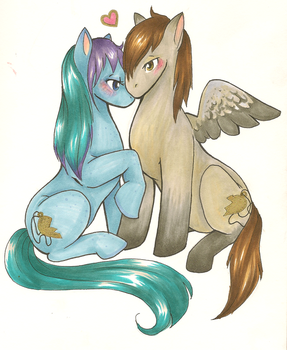 Editor and Gabriel ponies by Sybil-chan