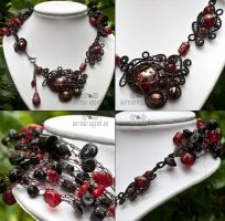Red gothic necklace by ukapala