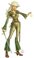 Elven Sorceress color by staino