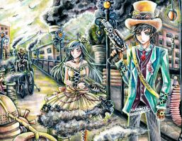 steam punk society by chicharrria