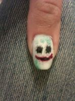 The Joker nail art by LittleMissTass