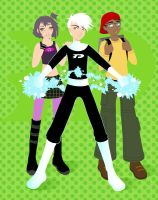 Danny Phantom, Sam, and Tucker by Blush-Art