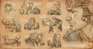 Edward Kenway Studies by KejaBlank