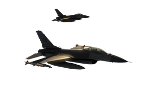 F-16 pair flying sunset FREE USE! by hg-Jake-almighty