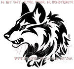 Cave Canem Fierce Wolf Head Design by WildSpiritWolf