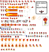 Fleetway Fire Sonic Sheet by DELGATRON