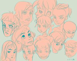 Face Sketches by theKinhe