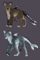 Lion/spotted dolphin adopts by BlackLightning95