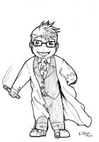 Chibi 10th Doctor by FuriarossaAndMimma