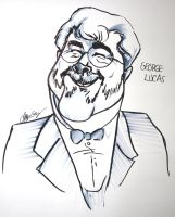 George Lucas Caricature by Jacksparrowsbabe