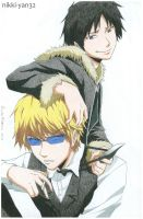 Shizuo and Izaya by nikki-yan32