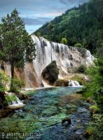 Cotton Falls Jiuzhaigou by Hestefotograf