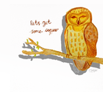 Owl Needs Coffee by auditographicious