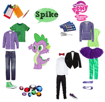 Spike polyvore set by mexicangirl12