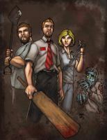 Sketchheavy Shaun of the dead by SpicerColor