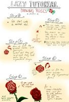 Lazy Tutorial: roses by x-Memoire-x