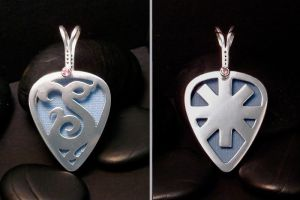 guitar pick holder pendant by tinkerSue