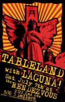 Tableland Gig Poster by DirtyProtest