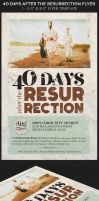 40 Days After The Resurrection Flyer Template by Godserv