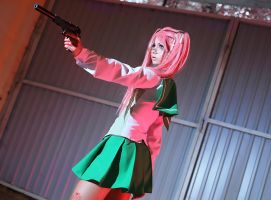 Saya Takagi - Highschool of the dead by kirawinter