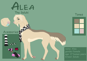 fursona Alea-the Saluki by Fainira
